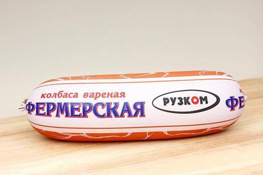 Колбаса «Фермерская» 1 кг (полукольцо)