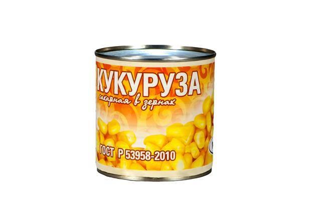 Кукуруза сахарная в зернах ГОСТ в/с