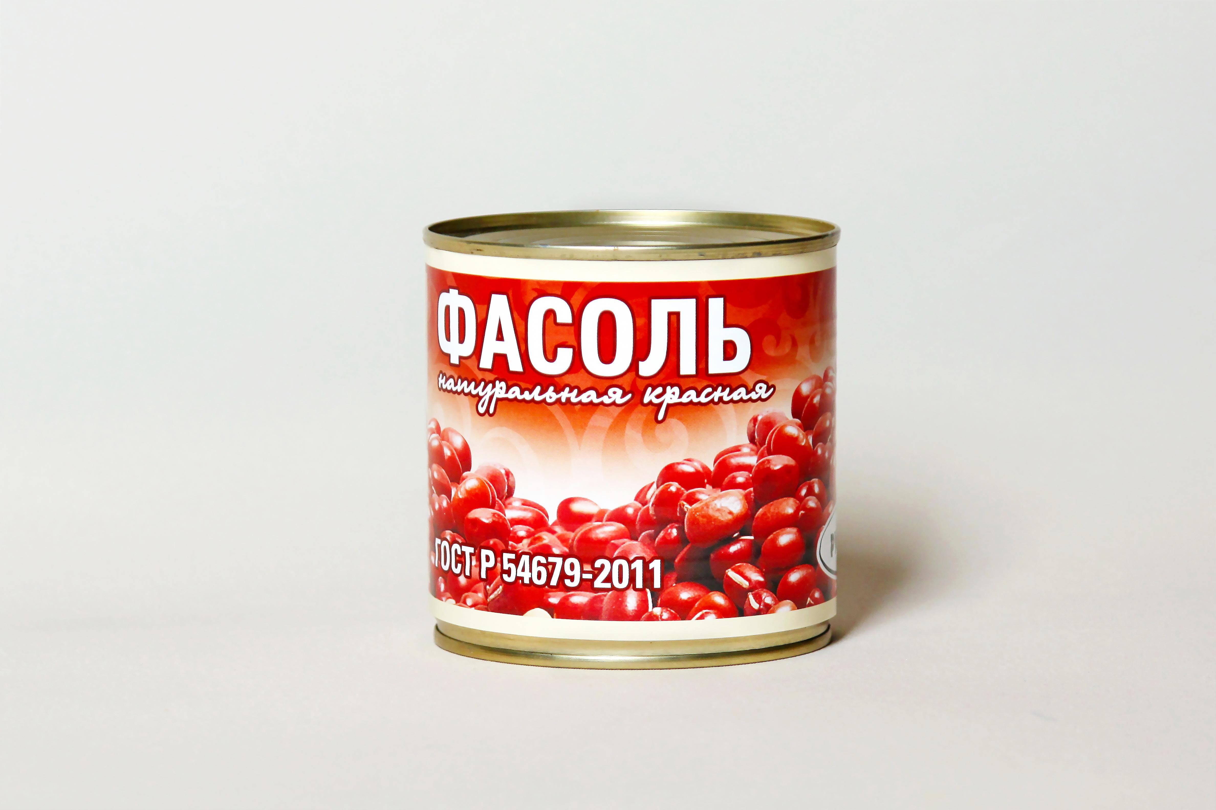 Фасоль натуральная красная ГОСТ