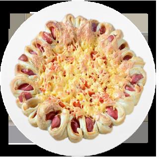 Пицца из сосисок в тесте