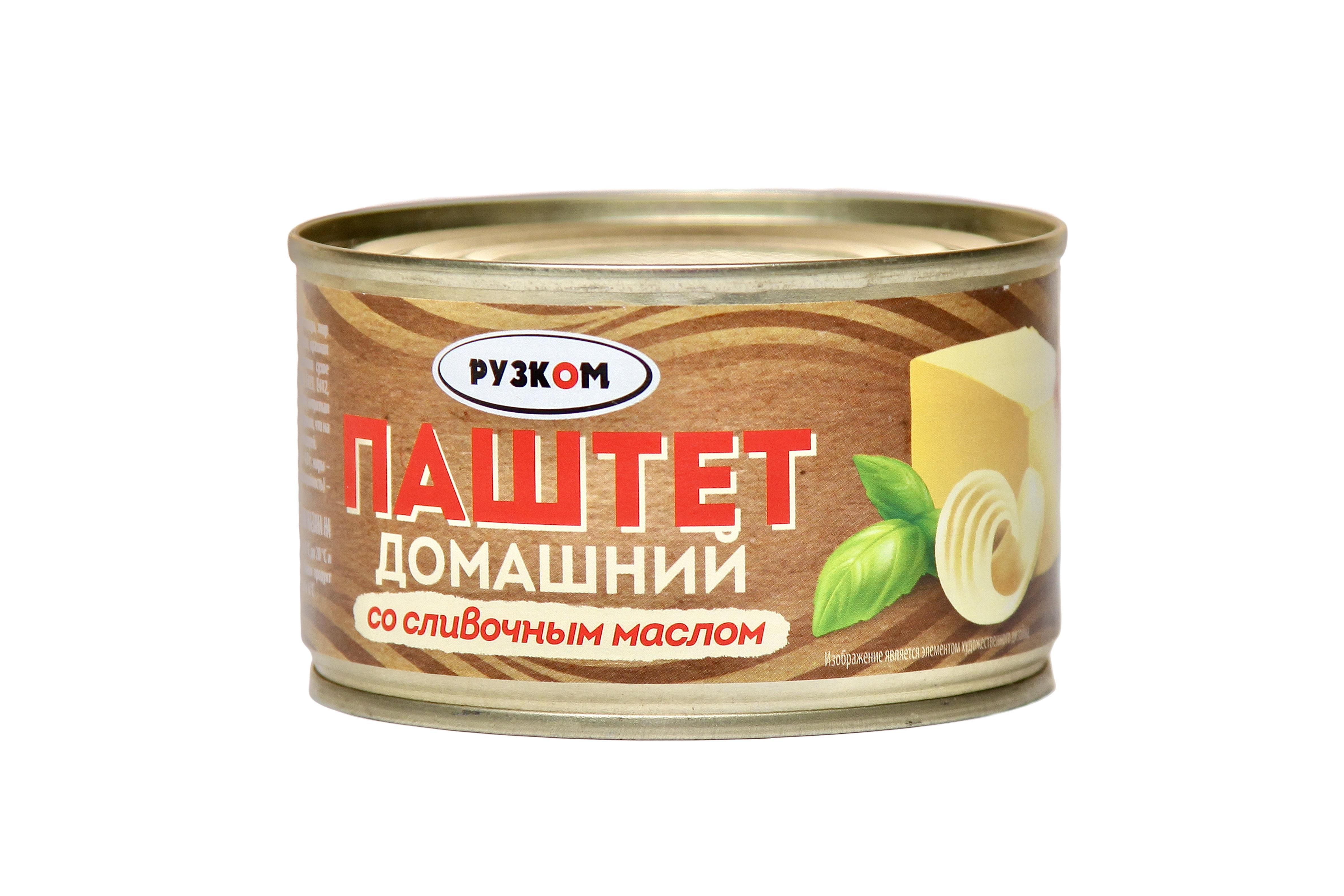 Паштет «Домашний» со сливочным масло